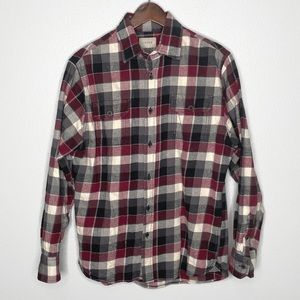 Jachs Brawny Flannel Plaid Shirt Red/Grey/Black M